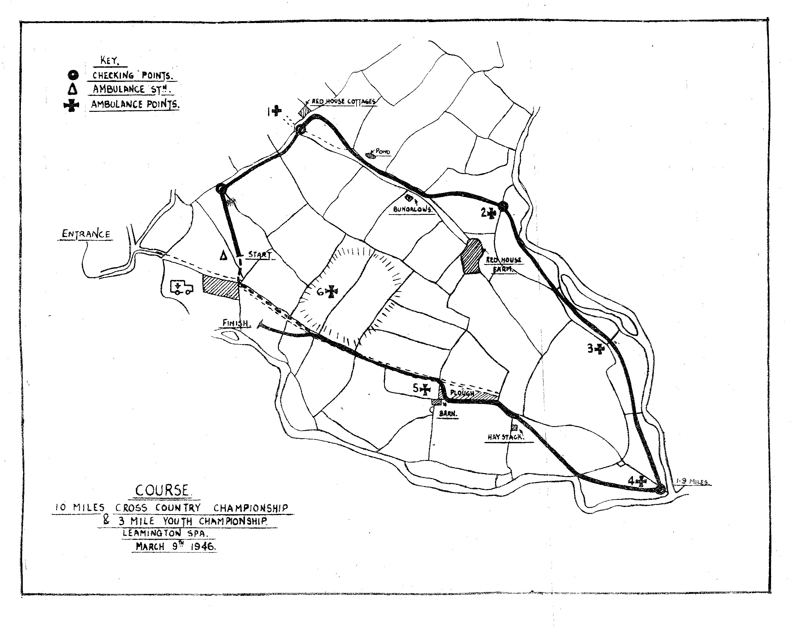 BDXCL Leamington XC Course 1946